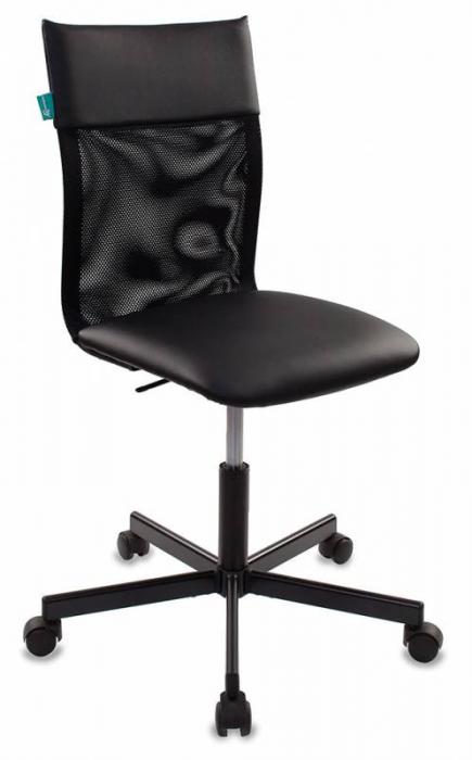 Кресло офисное CH-1399 спинка сетка, сиденье иск. кожа черная