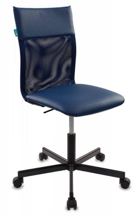 Кресло офисное CH-1399 спинка сетка, сиденье иск. кожа синяя