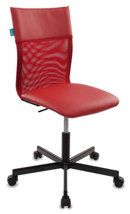 Кресло офисное CH-1399 спинка сетка, сиденье иск. кожа красная