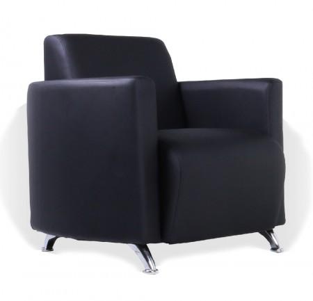 Кресло для отдыха City Сити экокожа черная
