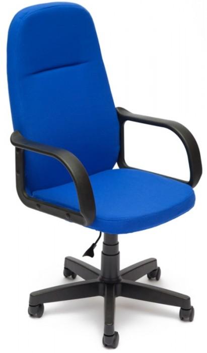 Кресло руководителя LEADER Лидер ткань синяя