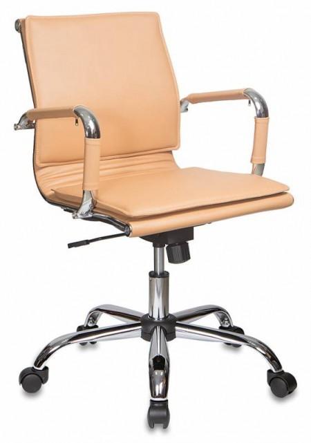 Кресло офисное CH-993-Low светло-корич экокожа, низкая спинка