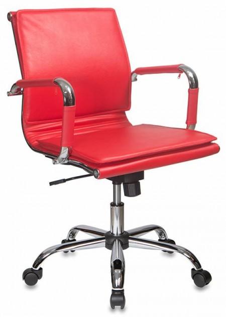 Кресло офисное CH-993-Low красная экокожа, низкая спинка