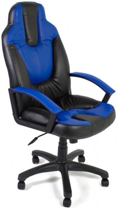 Кресло руководителя NEO2 Нео2 черная экокожа вставки синие