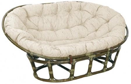 TetChair Кресло-диван из ротанга Mamasan Мамасан цвет олива + подушка