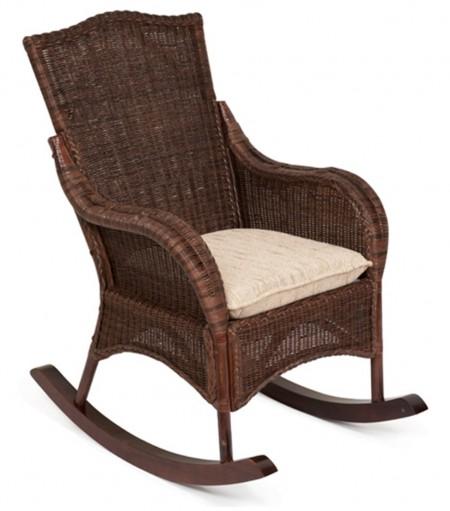 TetChair Кресло-качалка из ротанга Bali Бали + подушка цвет кофе