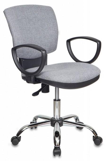 Кресло офисное CH-626SL ткань серая 10-128, крестовина хром