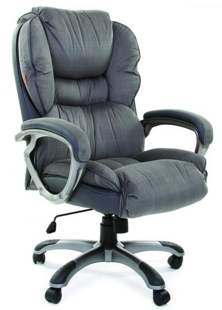 Кресло руководителя CHAIRMAN 434 серая микрофибра