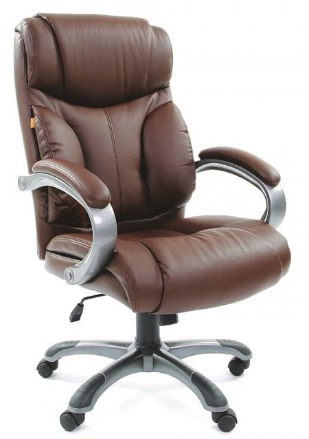 Кресло руководителя CHAIRMAN 435 кожа коричневая