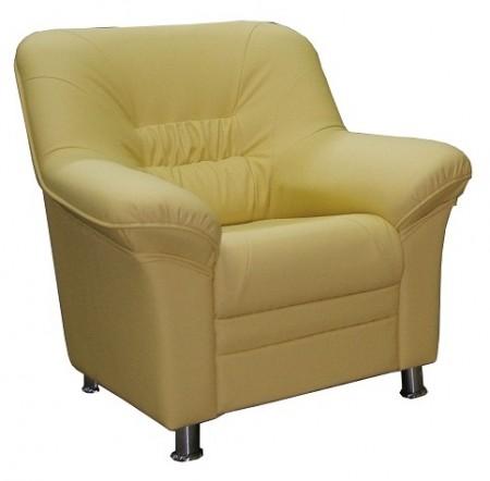 Кресло для отдыха Карелия экокожа черная Terra 118
