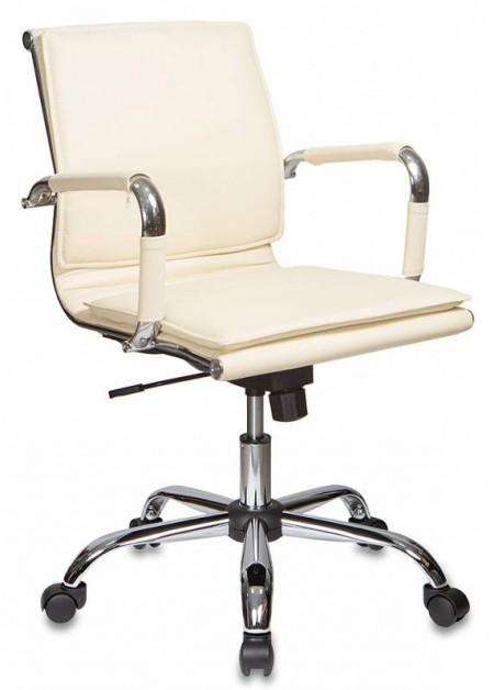 Кресло офисное CH-993-Low экокожа слоновой кости, низкая спинка