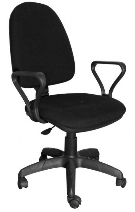 Кресло офисное Престиж ткань черная С-03, подлокотники Самба