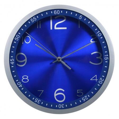 Часы настенные R05P, круглые, синий, d30.5 см, плавный ход
