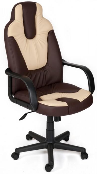 Кресло руководителя NEO1 Нео1 коричневая экокожа вставки беж