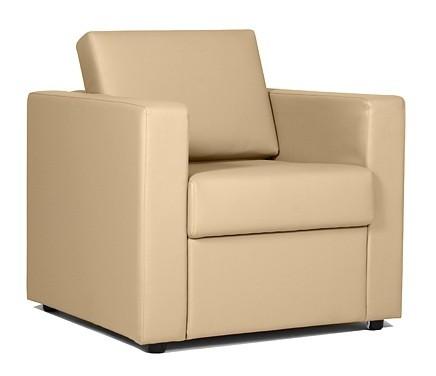 Кресло для отдыха Симпл экокожа черная Terra 118