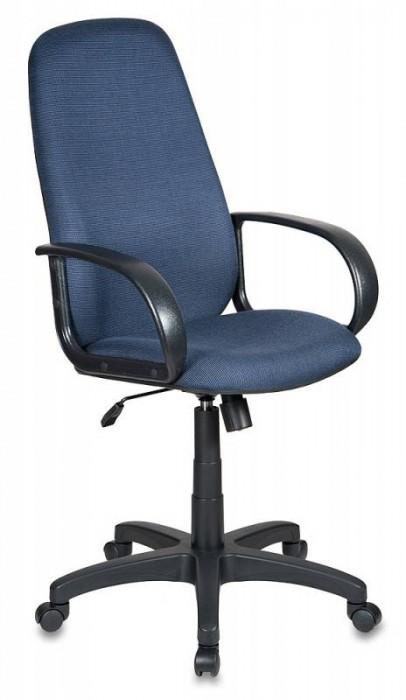 Кресло руководителя Ch-808AXSN черно-синяя ткань