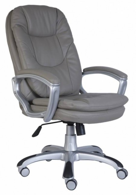 Кресло руководителя CH-868SAXSN серая экокожа РТ