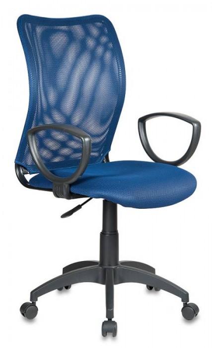 Кресло офисное CH-599 Спинка синяя сетка, сиденье синее