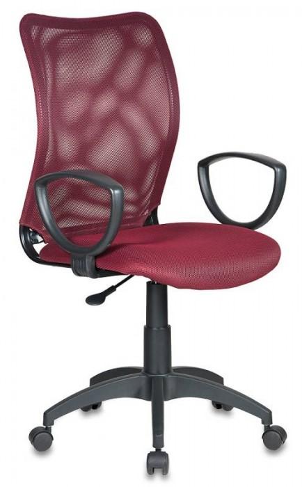 Кресло офисное CH-599 Спинка бордовая сетка, сиденье бордо