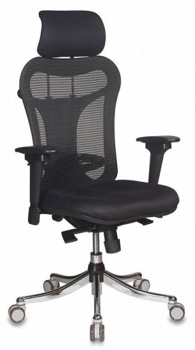 Кресло руководителя CH-999ASX черная сетка, черная ткань TW