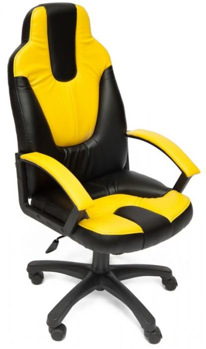Кресло руководителя NEO2 Нео2 черная экокожа вставки желтые