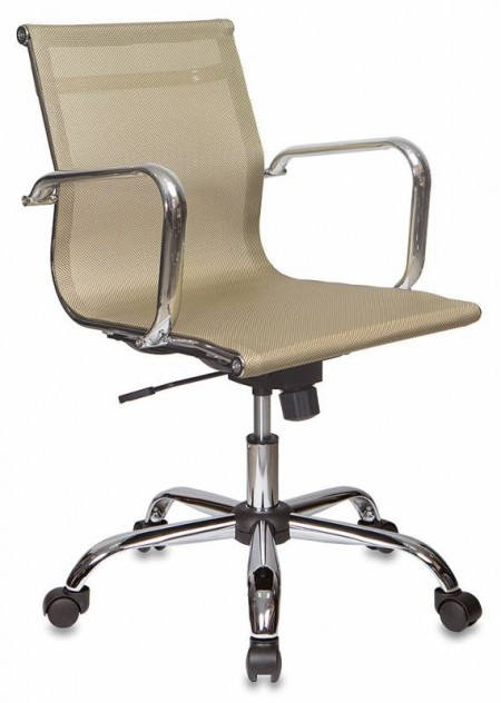 Кресло офисное CH-993-Low золотая сетчатая ткань, низк спинка