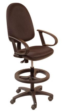 Кресло офисное CH-3002 ткань черная, упор для ног, высокий газлифт