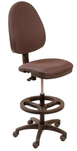 Кресло офисное CH-3601 ткань серая JP, упор для ног, высокий газлифт
