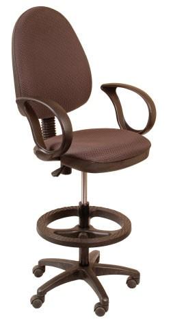 Кресло офисное CH-3602 ткань серая JP, упор для ног, высокий газлифт