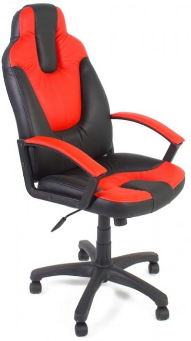 Кресло руководителя NEO2 Нео2 черная экокожа вставки красные