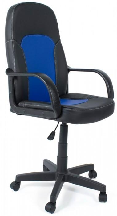 Кресло PARMA Парма черная экокожа вставка синяя