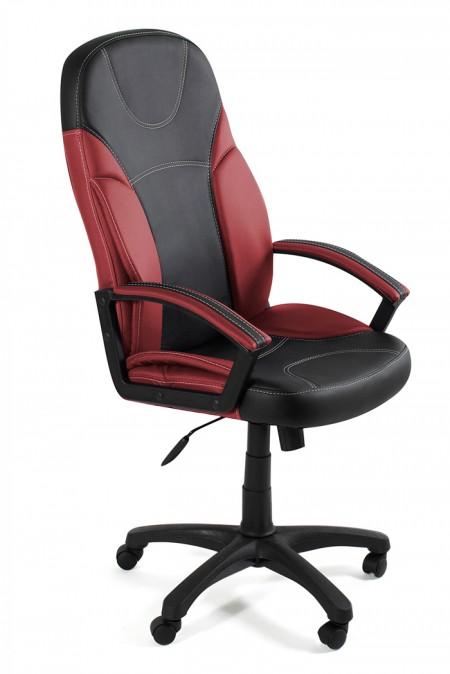 Кресло руководителя TWISTER Твистер экокожа черная, бордо