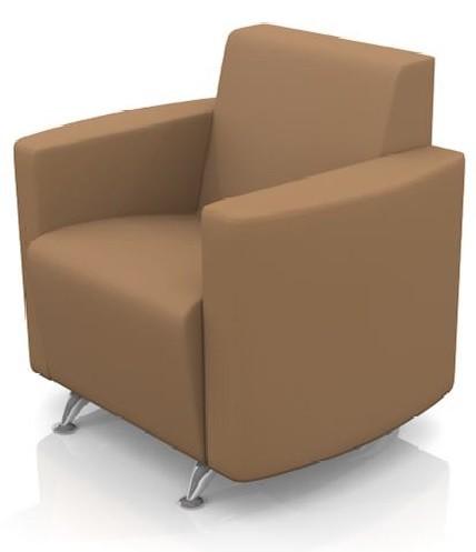 Кресло для отдыха Сити экокожа черная Terra 118