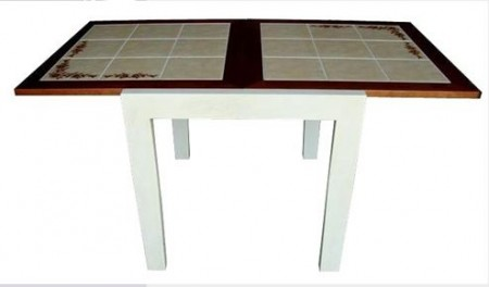 Стол обеденный CT 3030 с плиткой раскладной белый_дуб