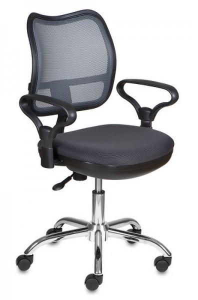 Кресло офисное CH-799SL на хроме серая сетка и сиденье