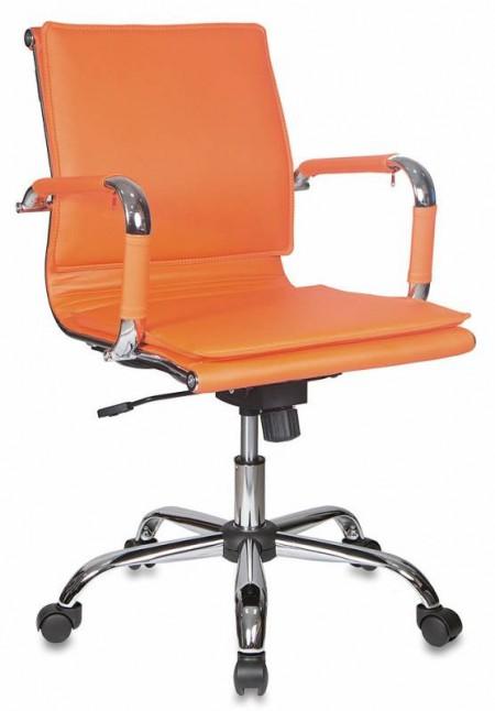Кресло офисное CH-993-Low оранжевая экокожа, низкая спинка