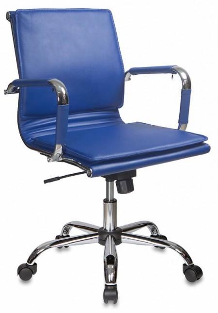 Кресло офисное CH-993-Low синяя экокожа, низкая спинка