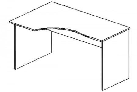 Стол письменный SE-1400R Simple Симпл легно светлый правый