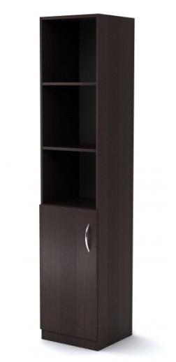 Шкаф узкий полуоткрытый Simple Симпл легно темный