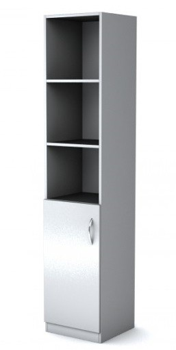 Шкаф узкий полуоткрытый Simple Симпл серый