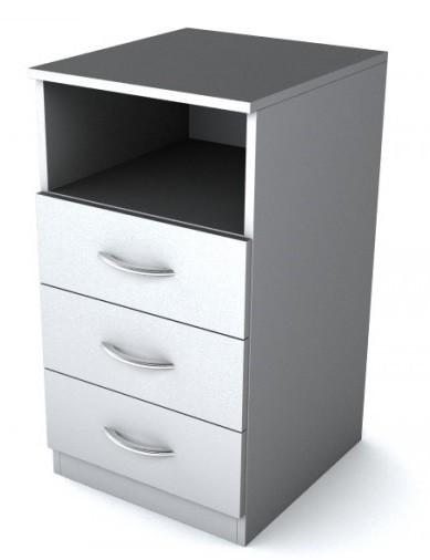 Тумба приставная 3 ящика SC-3D.1 Simple Симпл серый