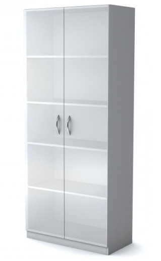 Шкаф широкий Simple Симпл легно серый