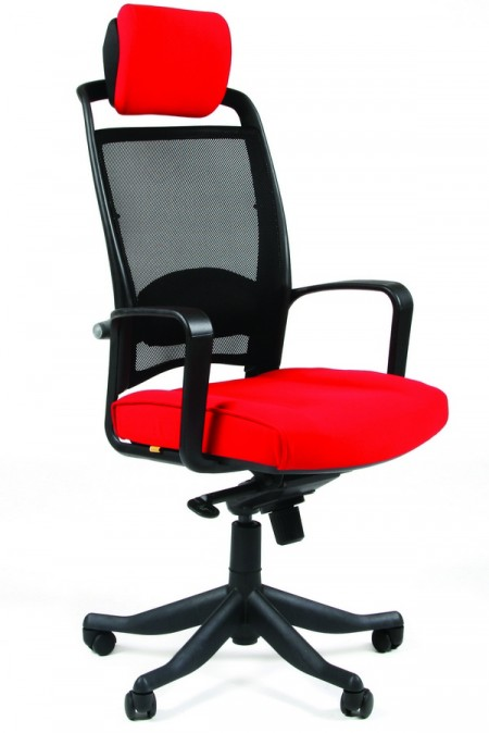 Кресло руководителя CHAIRMAN 283 ткань красная 26-22 РТ