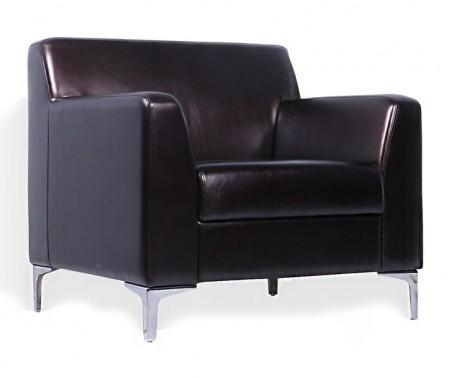 Кресло для отдыха Smart Смарт экокожа черная