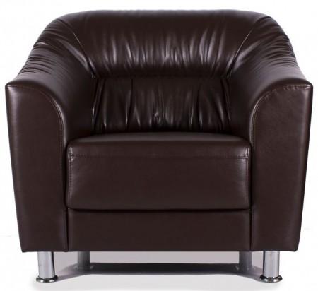 Кресло для отдыха Райт экокожа черная Terra 118