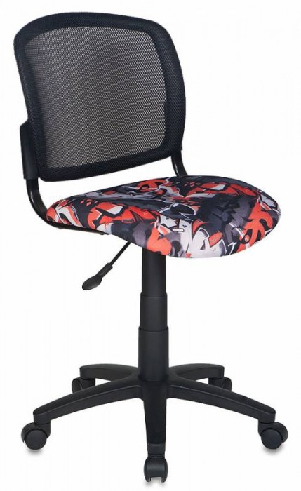 Кресло офисное CH-296 спинка сетка, сиденье ткань граффити Graffity