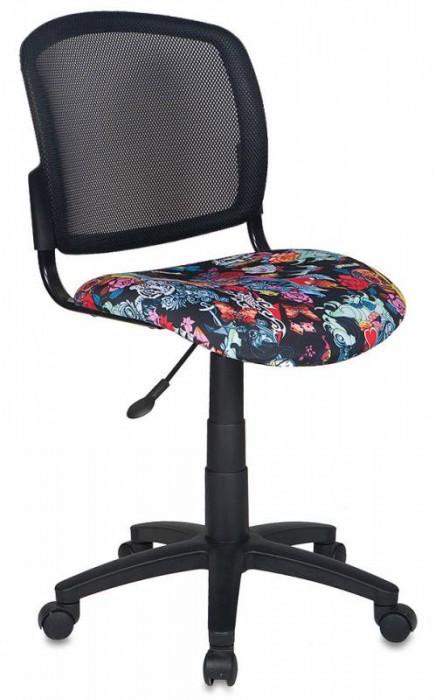 Кресло офисное CH-296 спинка сетка, сиденье черное черепа Tattoo