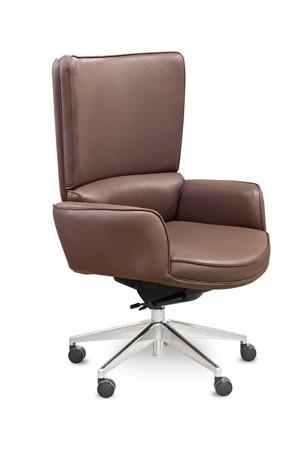 Кресло руководителя Шеф Chief MY-6014 кожа коричневая