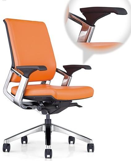 Кресло руководителя Ranger KA-02L кожа оранжевая