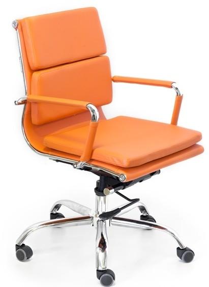 Кресло офисное Camaro (M) C1031B экокожа оранжевая